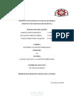 REPORTE DE CALIDAD