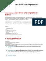 Requisitos para crear una empresa en Bolivia...pdf