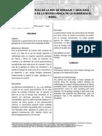 GRANULOMÉTRICA DE LA RED DE DRENAJE Y GEOLOGÍA CARACTERÍSTICA DE LA MICROCUENCA DE LA QUEBRADA EL BOBO