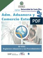XP-0502 REGÍMENES ADUANEROS Y SUS PROCEDIMIENTOS_I-2017