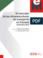 El mercado de las infraestructuras de transporte en Canadá noviembre 2013