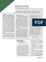 Business Mirror, Feb. 20, 2020, House panel defers Cha-Cha reso O.K..pdf