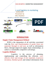 supply chain and logistics in marketing - C