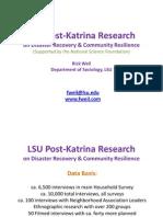 Weil, LSU Post-Katrina Survey - 101102