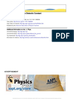 American Journal of Physics Volume 12 issue 4 1944 [doi 10.1119_1.1990594] Murdock, Carleton C. -- Coulomb's Law and the Dielectric Constant