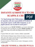 Vendola prende i rifiuti della Campania[volantino]