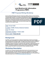 FBIP Proposal Writing Workshop 2020 -Announcement