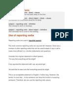 reported speech verbs