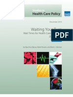 Wait Times for Health Care in Canada 2010 Report
