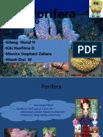 kelompok 1 ppt porifera