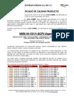CERTIFICADO CALIDAD COBRE GASES MEDICINALES (NXPowerLite)