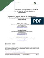 Audit Interne Sur La Performance Des PME Marocaines - Oct 2019