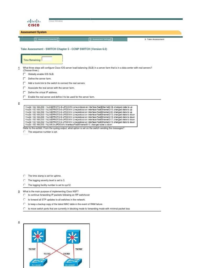 CCNP Switch Ch 5 | Network Switch | Ip Address