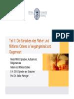 Sprachen des NMO-Einleitung - 2018
