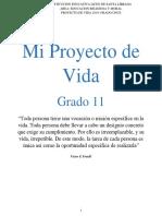 PROYECTO DE VIDA GRADO ONCE