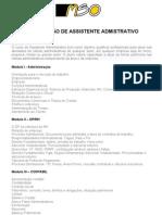 CURSO FORMAÇÃO DE ASSIST ADM