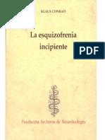La esquizofrenia incipiente - Klaus Conrad