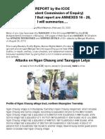 ICOE-Ngan Chaung, Taungpyo Letya Attacks, Summarized