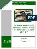 Instructivo Incorporación de Urbanizaciones, predios y construcciones en el DADEP