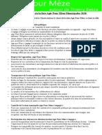 """Charte de la liste """"Agir pour Mèze""""."""