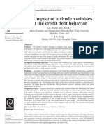THE IMPACT OF ATTITUDE VARIABLES ON THE CREDIT DEBT BEHAVIOR1