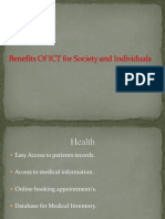 Benefits of ICT for Society and Individuals