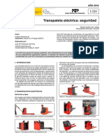manual de seguridad de trapalet electrica