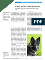 Canine olfactory detection of malignant melanoma