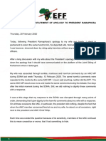 Malema's apology to President Ramaphosa