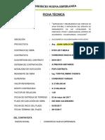 FICHA TÉCNICA LIQUIDACIÓN DE CONTRATO