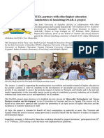 SUZA Partners With Other Higher Education Stakeholders in Launching DALILA Project