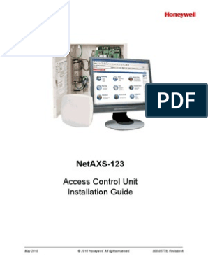 NetAXS123 Access Control Unit Installation Guide 800-05779-A ... on