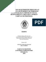 Pengaruh Karakteristik an Dan Regulasi Pemerintah Terhadap Pengungkapan Corporate Social Responsibility (Csr) Pada Lapo
