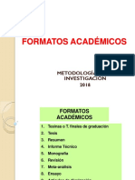 Otros Formatos Académicos metodologia de investigacion