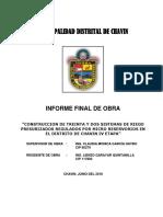 Informe Final de Obra MODELO