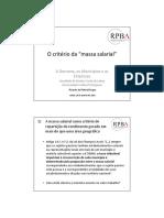 CALCULO DA MASSA SALARIAL