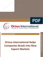 Orissa International Presentation