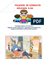 MODIFICACION  DE CONDUCTA  APLICADA  A DA