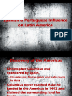 spanish and portuguese influence on latin america