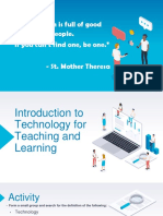 Lesson 1 - Introduction to Technology for Teaching and Learning