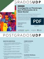 Tarjeton_Diplomado Investigación en Psicoterapia para profesionales de la Salud Mental