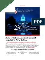 The Twenty-Third LULAC National Legislative Awards Gala is Next Week