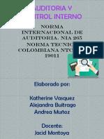 Cartilla sobre la norma ISO 19011 y Norma internacional de auditoria NIA 265
