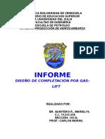 DISEÑO DE COMPLETACIÓN POR GAS