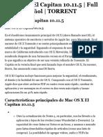 Descargar Mac OS X El Capitan 10.11.5 | Full ISO | Español | TORRENT