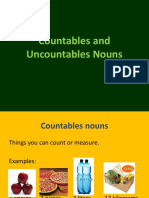 Countables and Uncountables Nouns