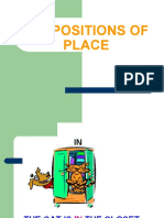 PREPOSITIONS OF PLACE 5°