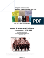 Ponencia Impacto de la Guerra del Pacífico en Lambayeque-10-11-10