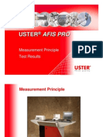 USTER AFIS PRO - Measurement Principle & Test Results