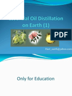 Essential Oil Distillation on Earth